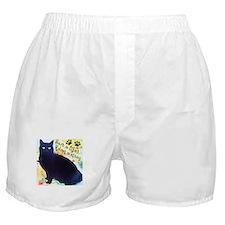 Stray Black Kitty Boxer Shorts