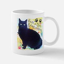 Stray Black Kitty Mug