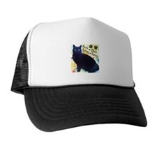 Stray Black Kitty Trucker Hat