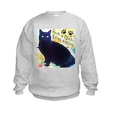 Stray Black Kitty Sweatshirt