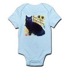 Stray Black Kitty Infant Bodysuit