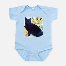 Stray Black Kitty Infant Bodysuit