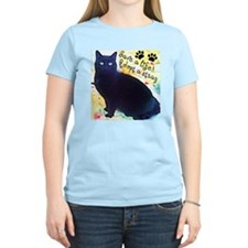 Stray Black Kitty T-Shirt