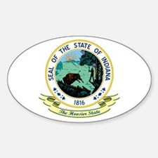 Indiana Seal Sticker (Oval)
