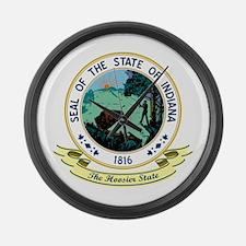 Indiana Seal Large Wall Clock