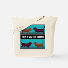 Cute Bassette hound Tote Bag