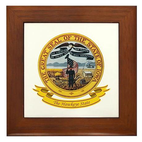 Iowa Seal Framed Tile