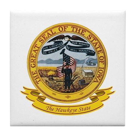 Iowa Seal Tile Coaster