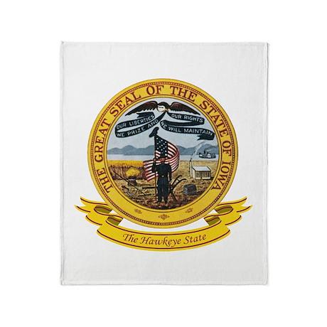 Iowa Seal Throw Blanket
