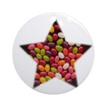 CANDY JELLYBEAN STAR Ornament (Round)