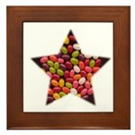 CANDY JELLYBEAN STAR Framed Tile