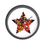 CANDY JELLYBEAN STAR Wall Clock