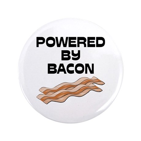 """Powered By Bacon 3.5"""" Button"""