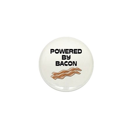 Powered By Bacon Mini Button