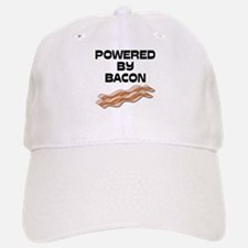 Powered By Bacon Baseball Baseball Cap