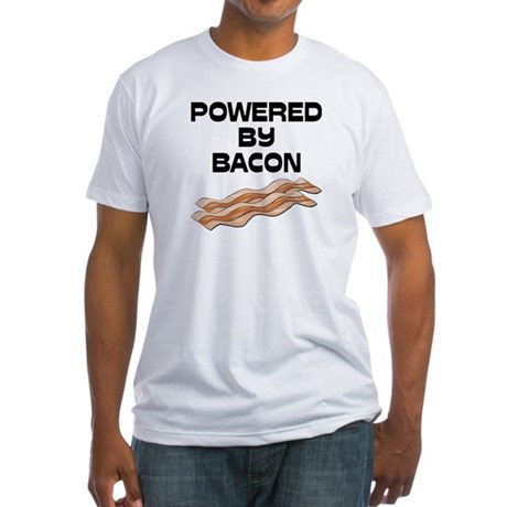 Powered By Bacon Fitted T-Shirt