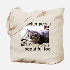 Shelter Pets/One-Eyed Cat Tote Bag