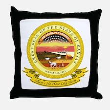 Kansas Seal Throw Pillow