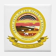 Kansas Seal Tile Coaster
