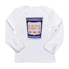 Greek Coffee Cup Long Sleeve Infant T-Shirt