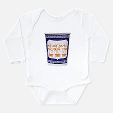 Greek Coffee Cup Long Sleeve Infant Bodysuit
