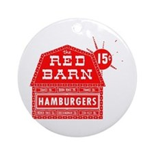MM Red Barn Ornament (Round)