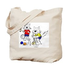 Croquet Cats Tote Bag