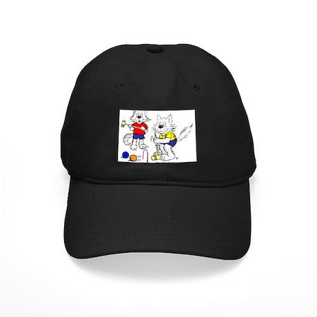 Croquet Cats Black Cap