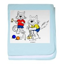 Croquet Cats baby blanket