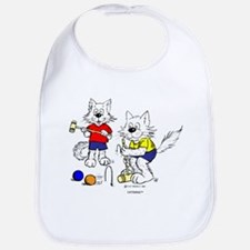 Croquet Cats Bib