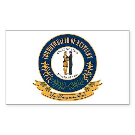 Kentucky Seal Sticker (Rectangle)