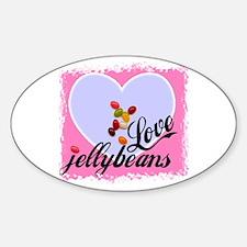 LOVE JELLYBEANS Oval Decal