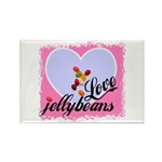 LOVE JELLYBEANS Rectangle Magnet (100 pack)