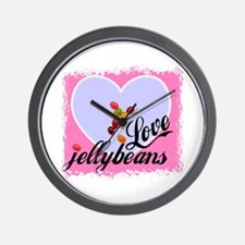 LOVE JELLYBEANS Wall Clock