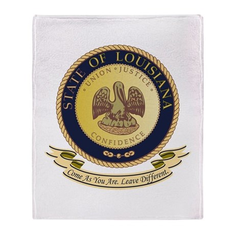 Louisiana Seal Throw Blanket