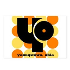 YO -Orange/Yellow Balls Postcards (Package of 8)