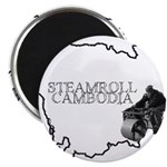Steamroll Cambodia Magnet