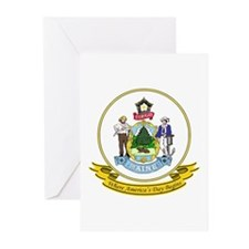 Maine Seal Greeting Cards (Pk of 10)