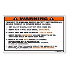 OEM warning label Rectangle Decal