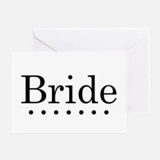 Dotted Bride Greeting Card