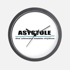 Asystole Wall Clock