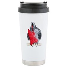 african grey Travel Mug