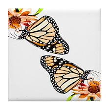 Butterflies Too Tile Coaster