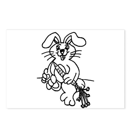 BUNNY WABBIT 4 U Postcards (Package of 8)