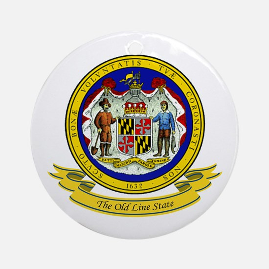 Maryland Seal Ornament (Round)