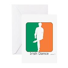Irish Dance Tricolor Boy Greeting Cards (Pk of 10)