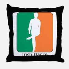 Irish Dance Tricolor Boy Throw Pillow