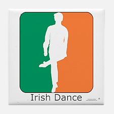Irish Dance Tricolor Boy Tile Coaster