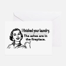 Your laundry is finished... Greeting Card