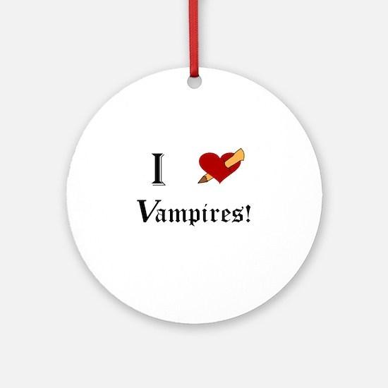 I Slay Vampires Round Ornament